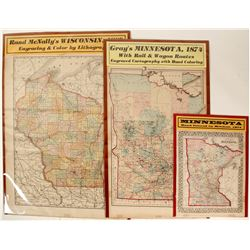 Minnesota and Wisconsin Maps (3)  (63206)