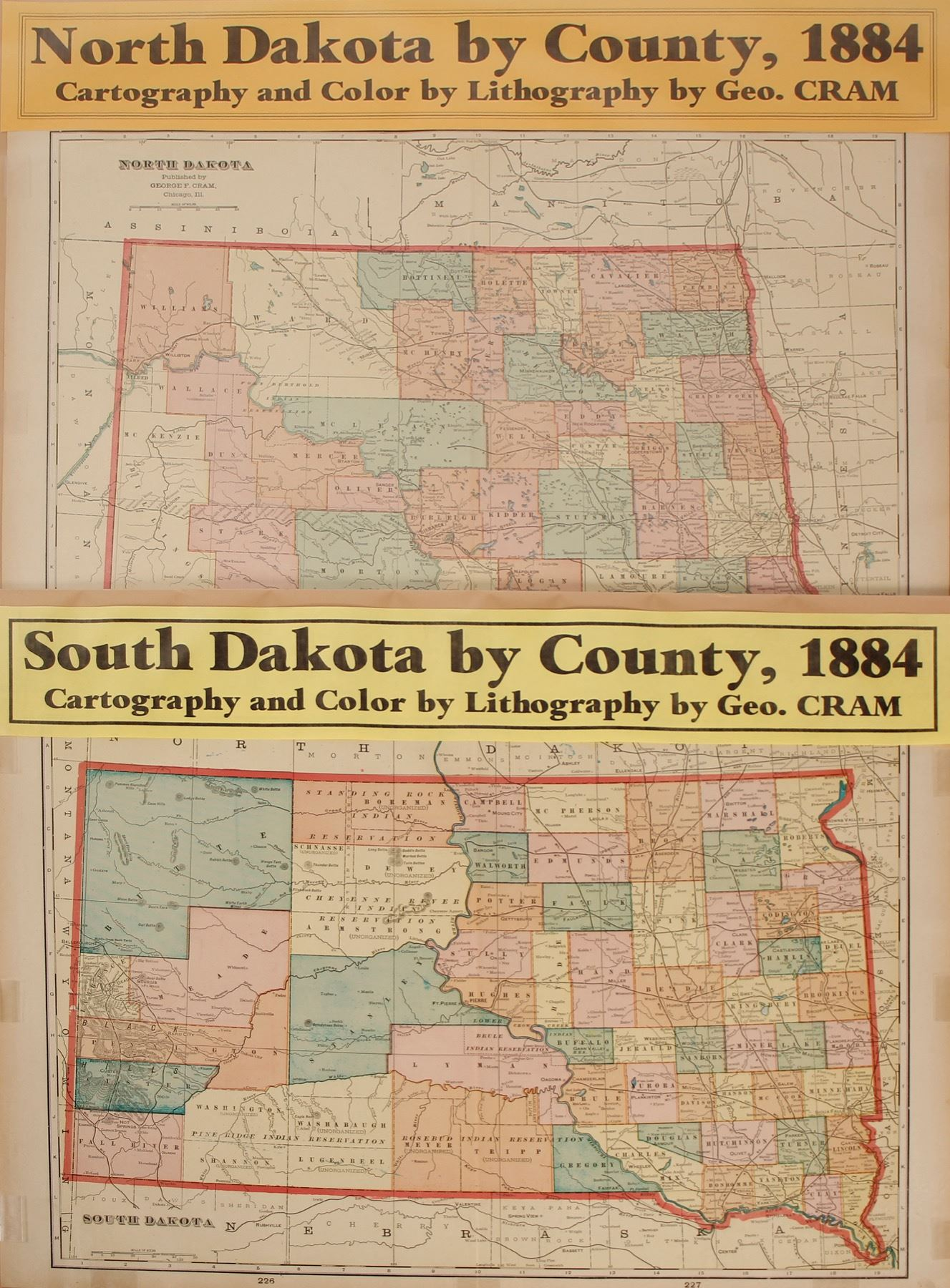 North and South Dakota Maps (2) (63232)