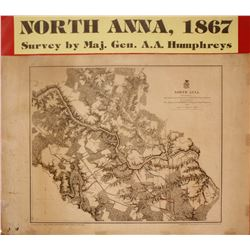 North Anna Civil War Battle Map  (63225)