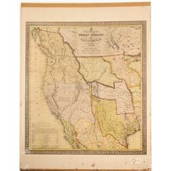 Map of TX, OR & CA Print  (87443)