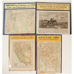 Pony Express and Westward Expansion Maps (4)  (63228)