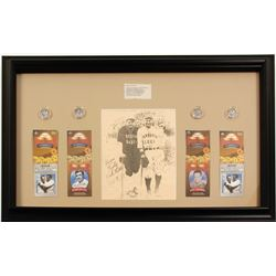 Lou Gehrig and Babe Ruth Framed Tribute  (61342)