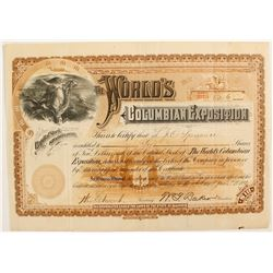 The World's Columbian Exposition stock  (82731)