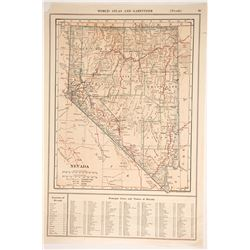 1910 Map of NV - 15 Counties  (88407)