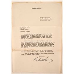 Herbert Hoover Signed Letter  (88317)