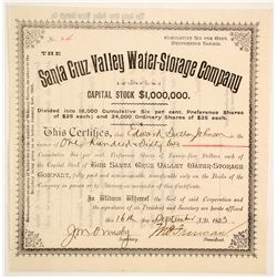 Santa Cruz Valley Water-Storage Company Stock  (88009)