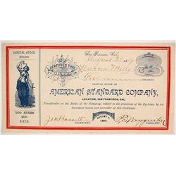 American Standard Company Stock  (86768)