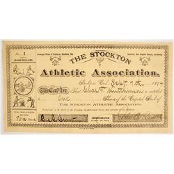 Stockton Athletic Association Stock: NUMBER 1  (86765)