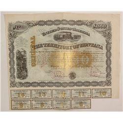 Gorgeous 1876 $1,000 Territorial Bond  (87964)