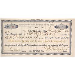 Diamond, Kyune and Castle Stone Company Stock  (86759)