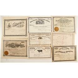 Remainder of Utah Stock Certificates  (86722)