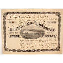 Central Canal and Land Company Stock  (87925)