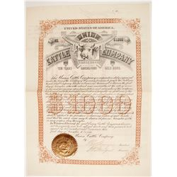 Union Cattle Company Bond  (87920)