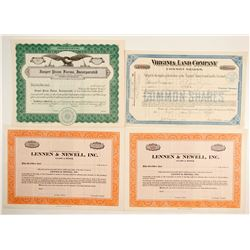 Stock Certs. (4)  (86829)