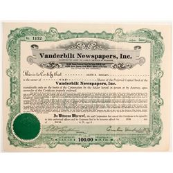 Vanderbilt Newspapers Inc. Stock  (83274)