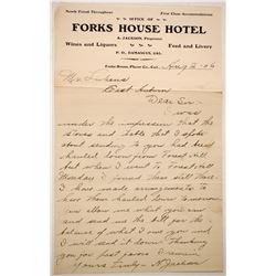 Forks House Hotel Letterhead  (88249)