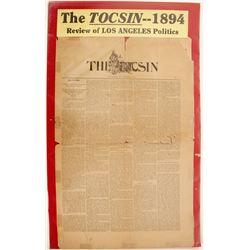The Tocsin 1894 Newspaper  (63114)