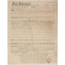 John Bigler 1856 Mortgage for Sacramento Property  (54429)