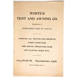 White's Tent and Awning Company Catalog  (88247)