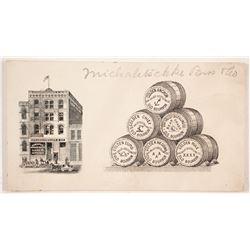 Braunschweiger & Co Liquor Pictorial Business Cards  (88305)