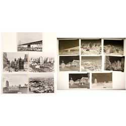 Eight Original 3.25 x 4.25 B&W Negatives of San Francisco  (58302)
