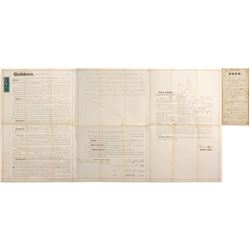 Land Deed Issued to Francois Pioche  (61360)