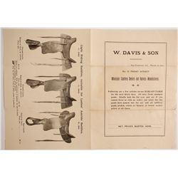 W. Davis & Son Saddlery Flyer  (88255)