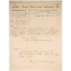 Alder Creek Lumber Company Letterhead  (88236)
