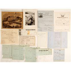 California Ephemera Collection (Gold Rush, Railroad, Express)  (60157)
