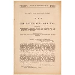 1868 Postmaster General Report About Contracts with Ben Holladay  (60167)