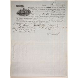 Letter, Bill & Bill of Lading   (86823)