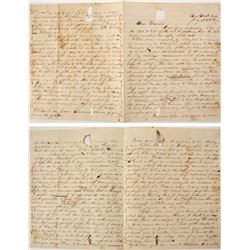 Post Civil War Letter from brother to little sister  (59713)