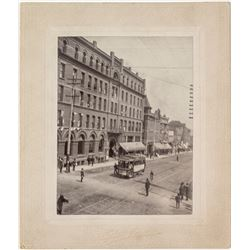 Photograph, Butte, M.; Corner of Park and Main Trolley   (40866)
