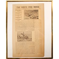 Unique 'White Pine Miner' Newspaper  (99341)