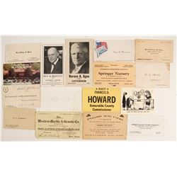 Nevada Business, Political and Military Card Collection  (99490)