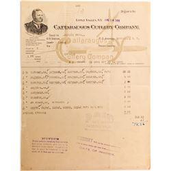 Cattaraugus Cutlery Company Billhead  (52017)