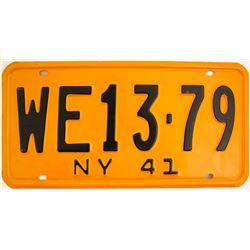 1941 New York License Plates  (61531)