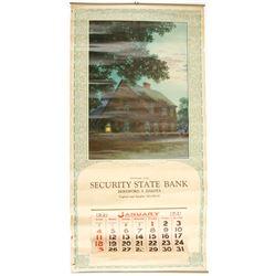 January 1931 Pictorial S. Dakota Calendar  (88320)