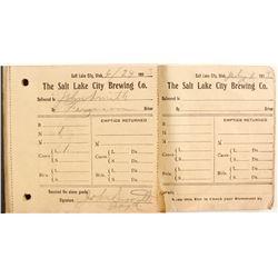 Salt Lake City Brewing Company Receipts  (88536)