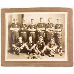Early Mounted Baseball Team Photograph  (53425)