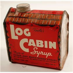 Log Cabin Syrup Tin  (87349)