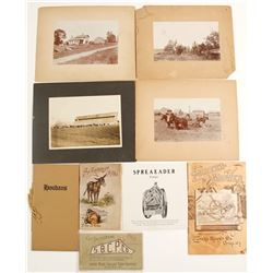 Mounted Photographs of Farms & Other Farming Ephemera  (60034)