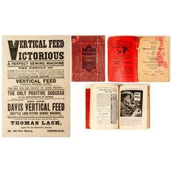 Starret Tools Catalog & Victoroius Sewing Machine Handbill  (571603)