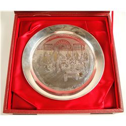 The First Continental Congress 1774 - 12-oz Sterling Silver Plate - The Danbury Mint  (79562)