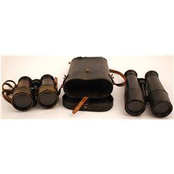 Two Pair of Vintage Field Binoculars  (61528)
