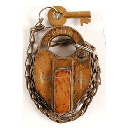 US Int Rev Brass Lock and Key  (87116)