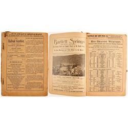 Rare 1897 Western Railroad Guide  (88665)