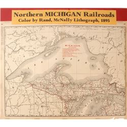 Northern Michigan Railroads Map  (59626)