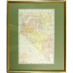 Framed Nevada Railroad Map  (86474)