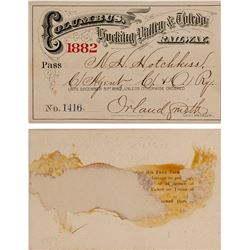Railway Pass, Columbus, Hocking Valley, & Toledo 1882  (59924)
